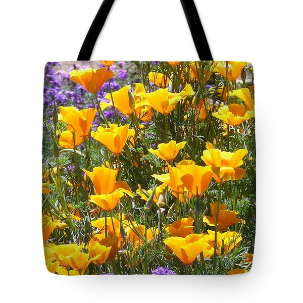 California Poppies Tote Bag by Carla Parris