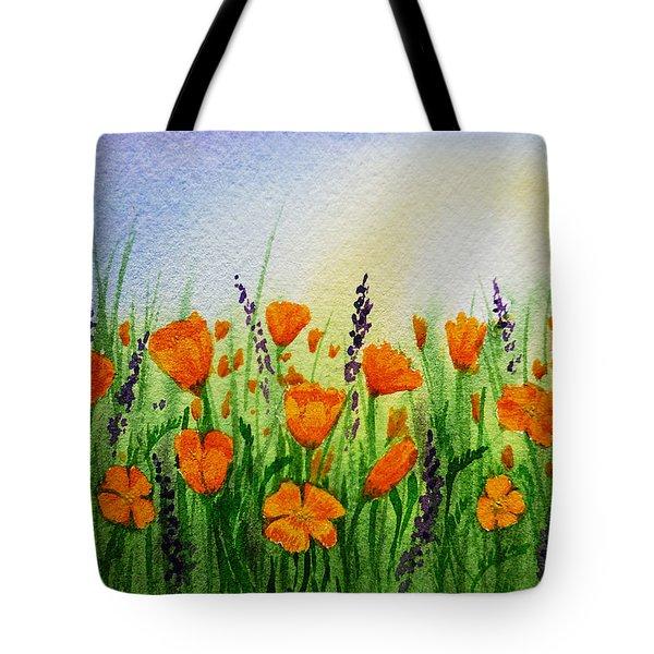 California Poppies Field Tote Bag by Irina Sztukowski