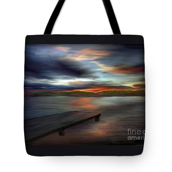 Tote Bag featuring the painting California Sky by Rand Herron