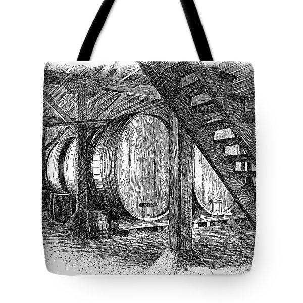 California: Winery, C1890 Tote Bag by Granger