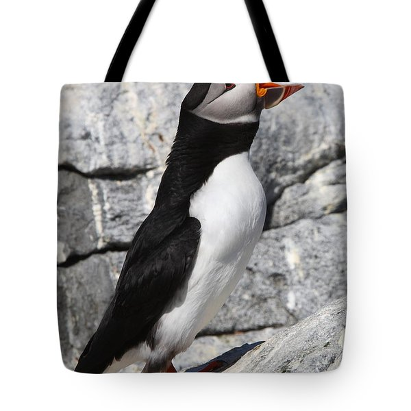 Call Of The Puffin Tote Bag by Bruce J Robinson
