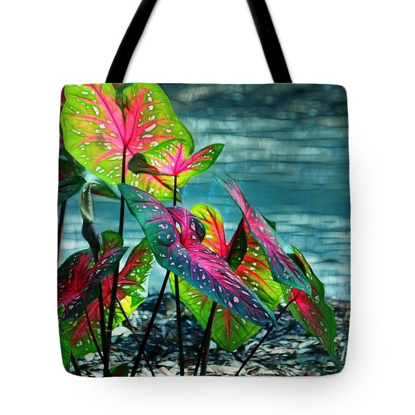 Calladiums Tote Bag by Judi Bagwell