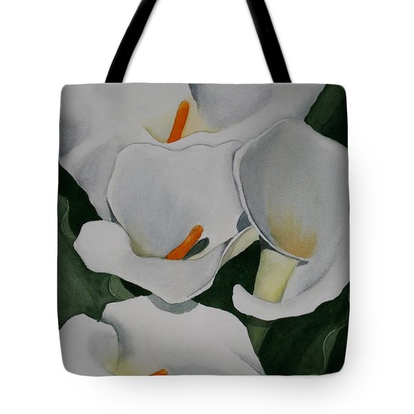 Callas Along The Coast Tote Bag