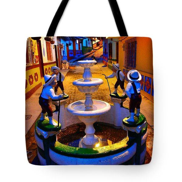 Tote Bag featuring the photograph Calle Del Recuerdo by Skip Hunt