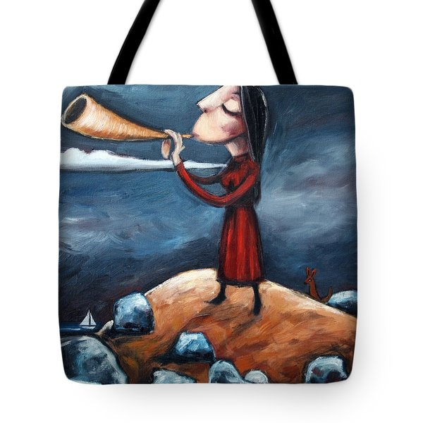 Tote Bag featuring the painting Calling by Leanne Wilkes