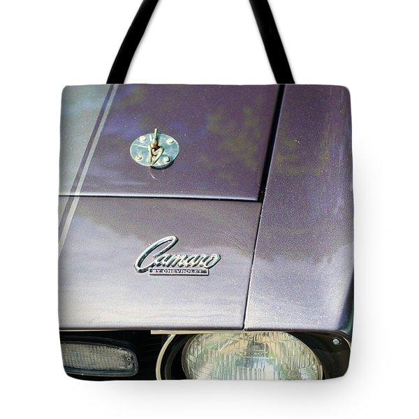 Camaro Ss With Hood Pin Tote Bag by Paul Ward