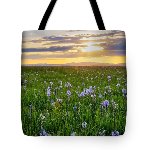 Camas Fields Tote Bag by Idaho Scenic Images Linda Lantzy