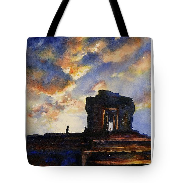 Cambodian Sunset Tote Bag by Ryan Fox