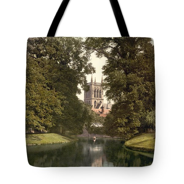 Cambridge - England - St. Johns College Chapel From The River Tote Bag by International  Images
