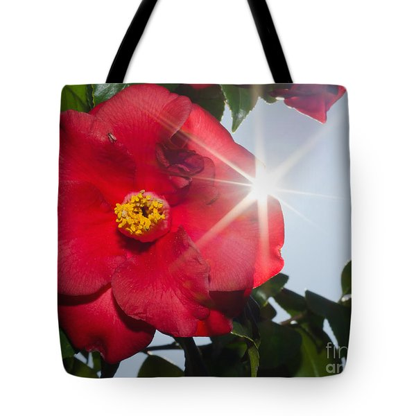 Camellia Flower Tote Bag by Mats Silvan