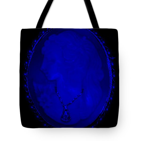 Cameo In Blue Tote Bag by Rob Hans