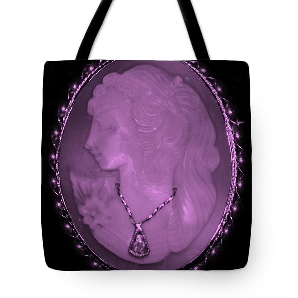 Cameo In Light Pink Tote Bag by Rob Hans