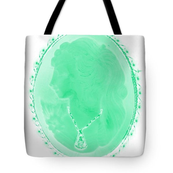 Cameo In Negative Green Tote Bag by Rob Hans