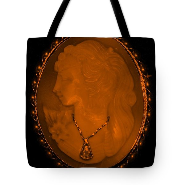Cameo In Orange Tote Bag by Rob Hans