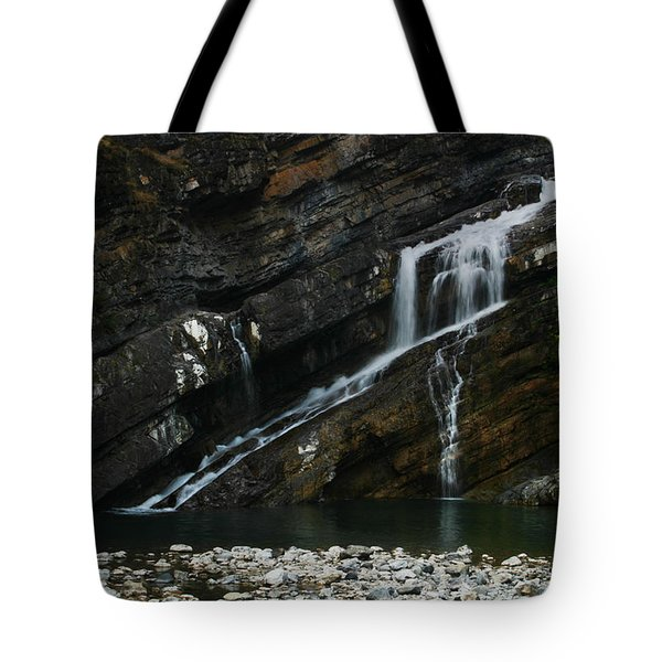 Cameron Falls Waterton Lakes National Park Tote Bag