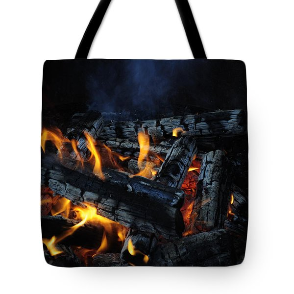 Tote Bag featuring the photograph Campfire by Fran Riley