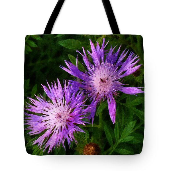 Tote Bag featuring the photograph Can Flowers Say Boo by Steve Taylor