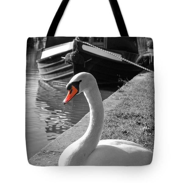 Canal Swan Tote Bag