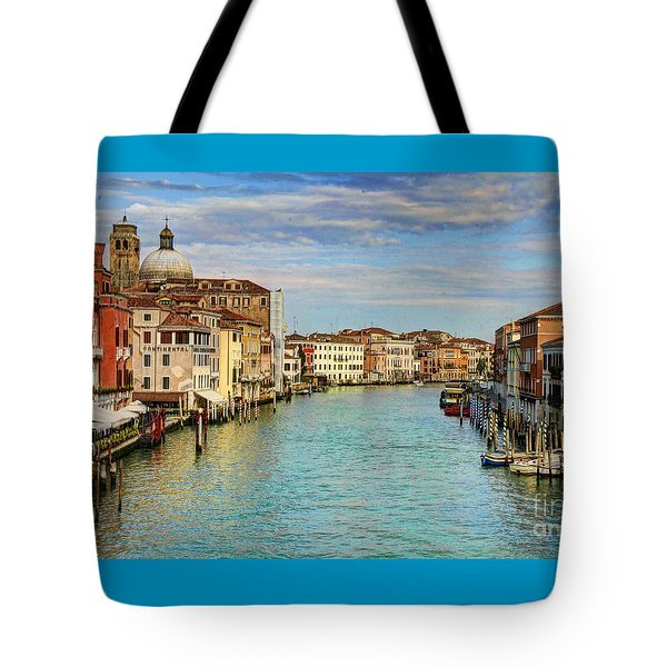 Canals Of Venice  Tote Bag