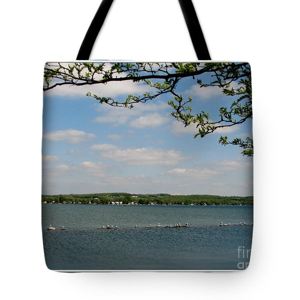 Canandaigua Lake Tote Bag by Rose Santuci-Sofranko