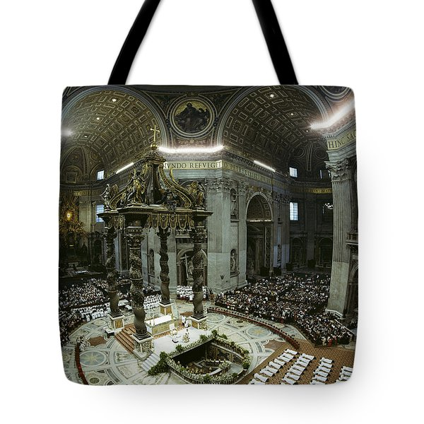 Candidates For Priesthood Lie Prostrate Tote Bag by James L. Stanfield