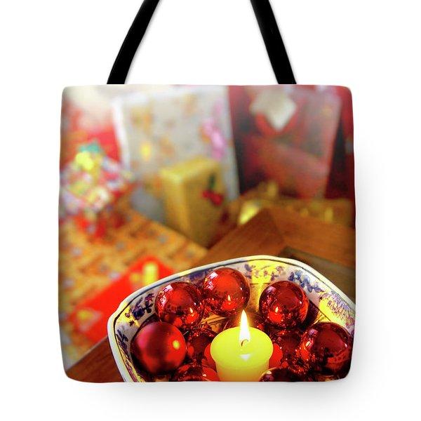 Candle And Balls Tote Bag by Carlos Caetano