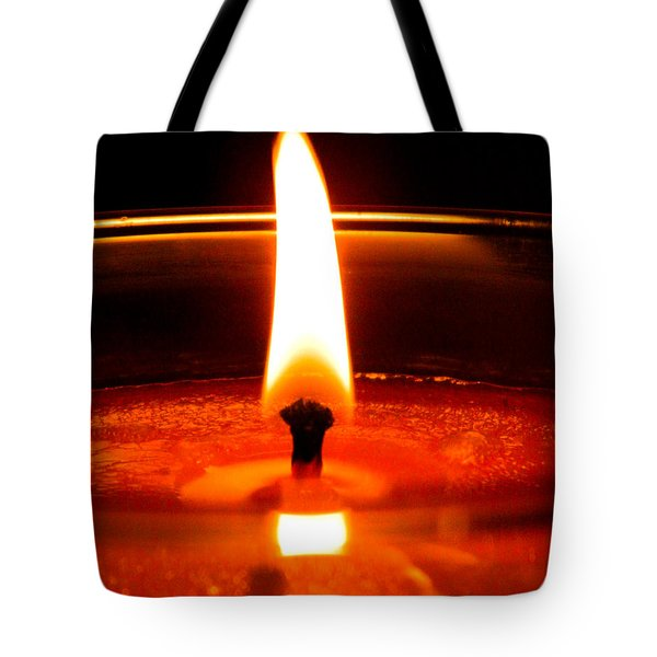 Tote Bag featuring the photograph Candlelight by Ester  Rogers
