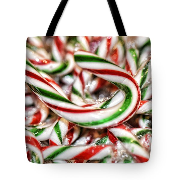 Tote Bag featuring the photograph Candy Canes by Traci Cottingham