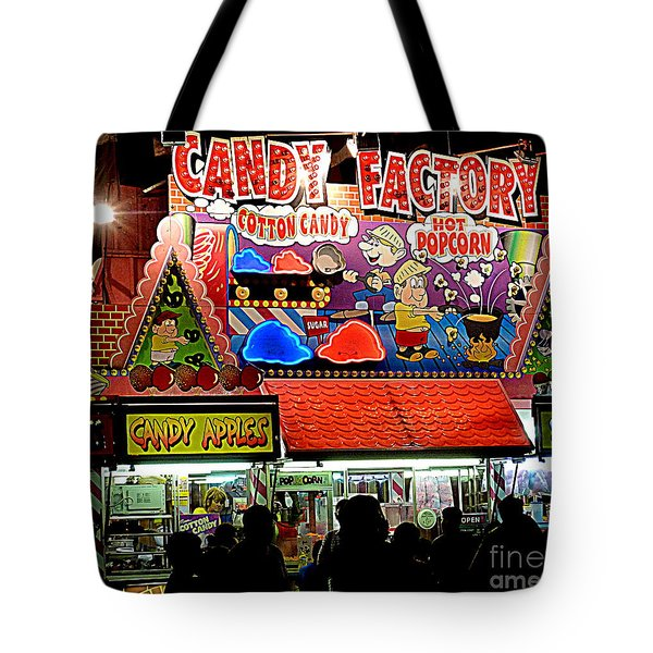 Tote Bag featuring the photograph Candy Factory by Renee Trenholm