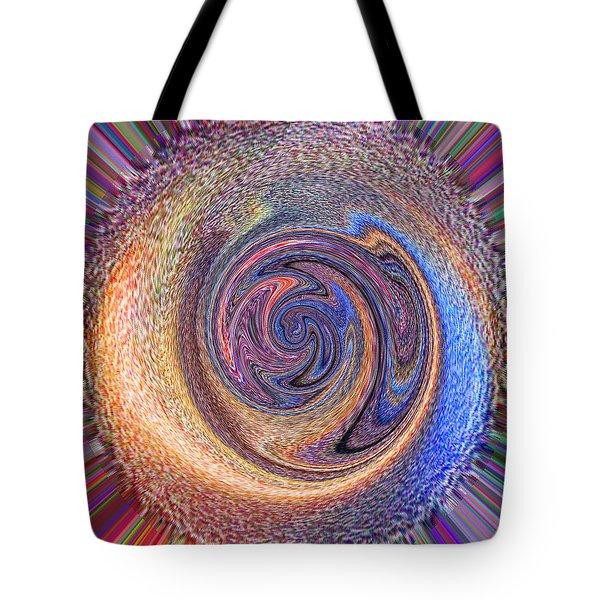 Candy Stripe Planet Tote Bag