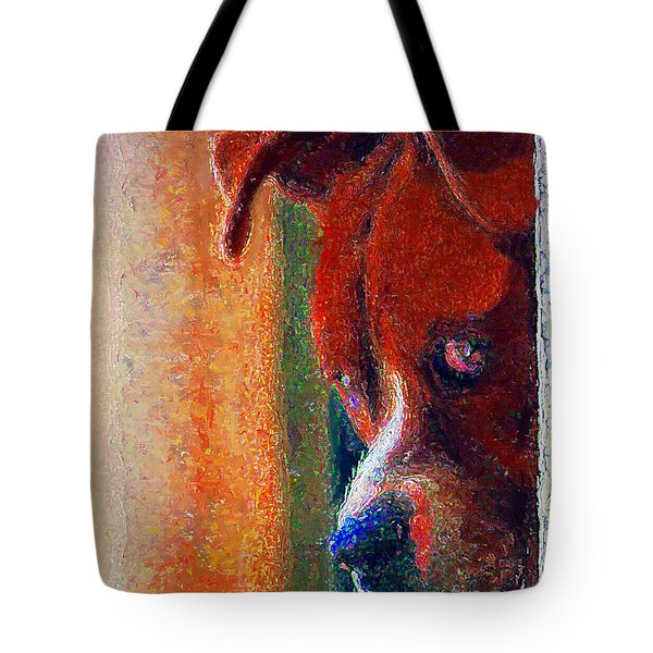 Canelo Wants In 2 Tote Bag by John  Kolenberg