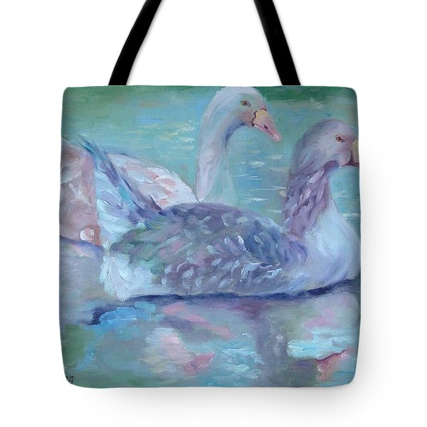 Tote Bag featuring the painting Cannonsburgh Geese by Carol Berning