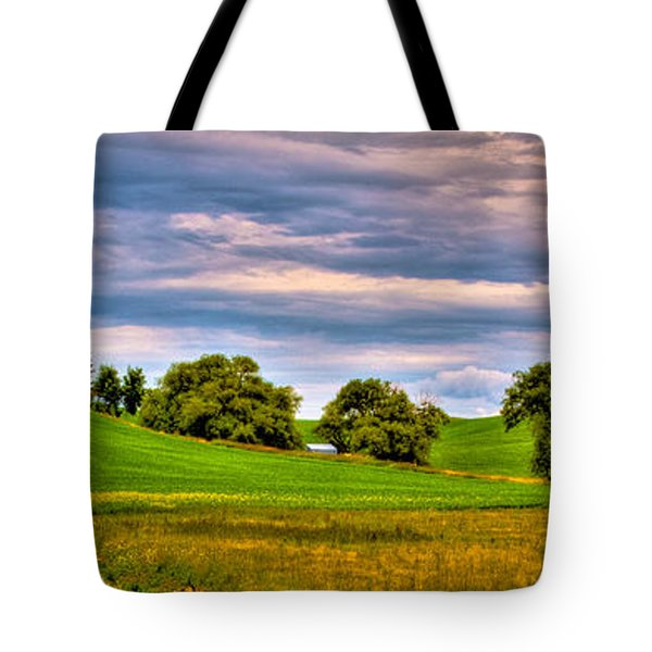 Canola Among The Wheat II Tote Bag by David Patterson