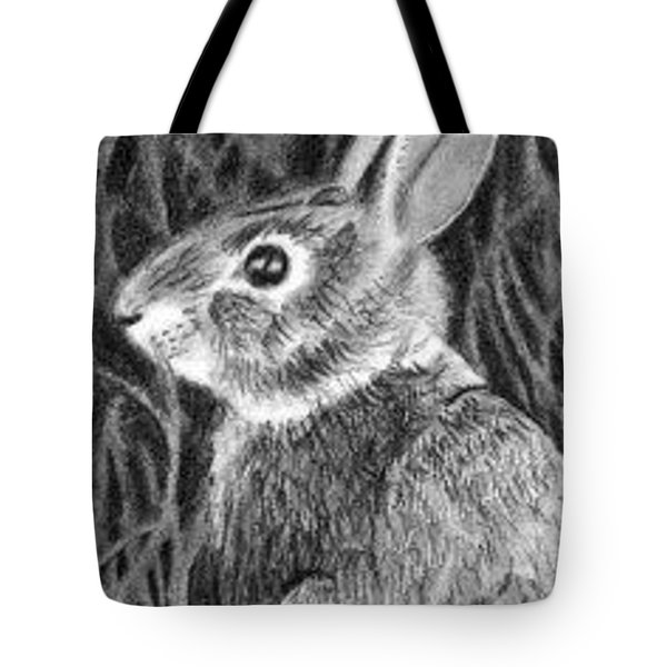 Tote Bag featuring the drawing Can't See Me - Aceo by Ana Tirolese
