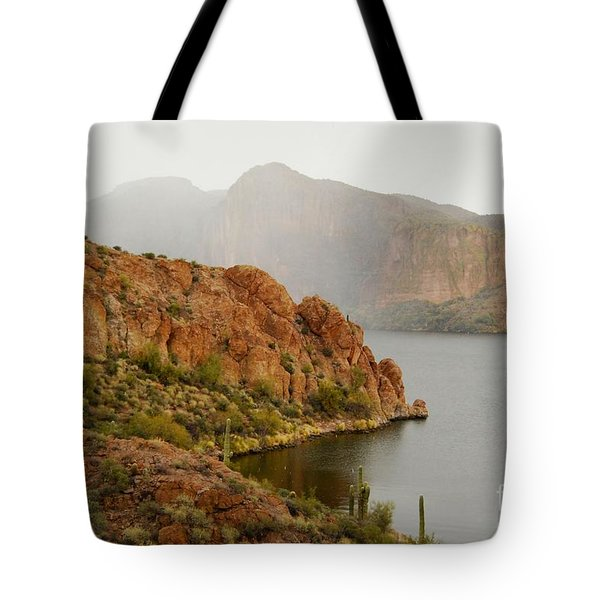 Tote Bag featuring the photograph Canyon Lake by Tam Ryan