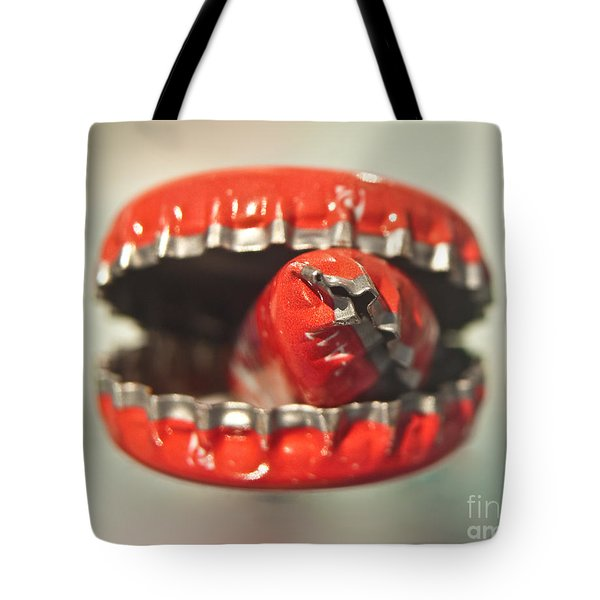 Cap Cannibal Tote Bag by Bruce Stanfield