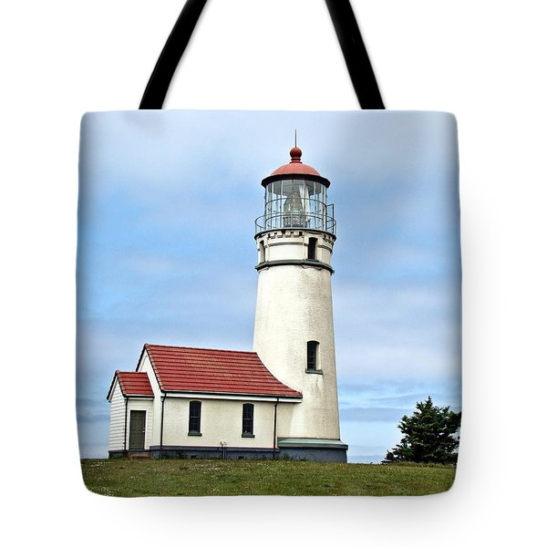 Cape Blanco Lighthouse Tote Bag by Nick Kloepping