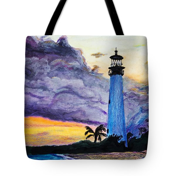 Cape Florida Lighthouse Tote Bag by Roger Wedegis