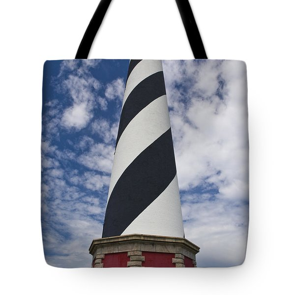 Cape Hatteras From Below Tote Bag by Tim Mulina