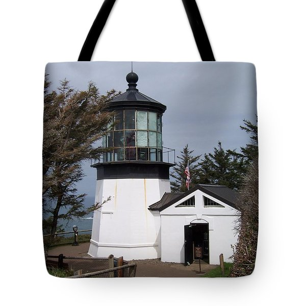 Cape Meares Lighthouse In Oregon Tote Bag by Peter Mooyman