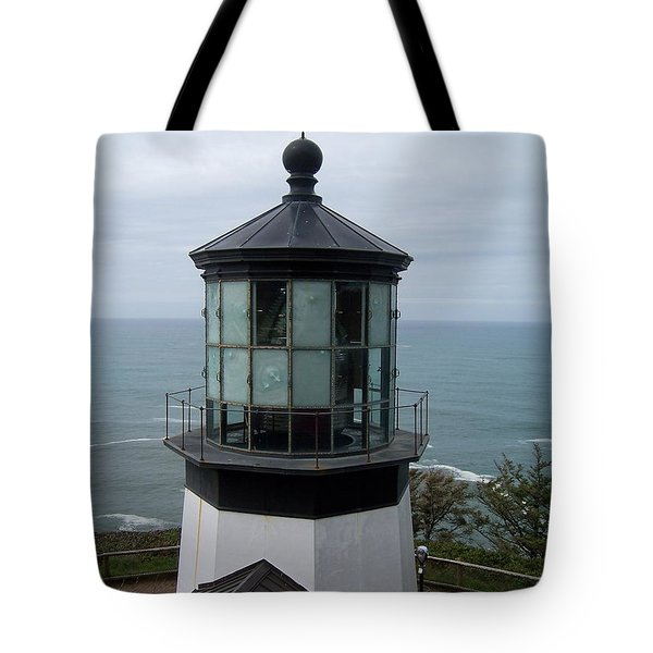 Cape Meares Lighthouse Tote Bag by Peter Mooyman