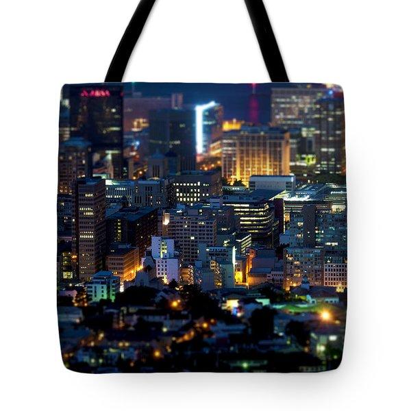 Cape Town's Tilt Shift  Tote Bag by Fabrizio Troiani