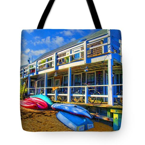 Captain Jack's At Sunrise Tote Bag by Tammy Wetzel
