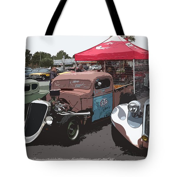 Car Show Hot Rods Tote Bag by Steve McKinzie