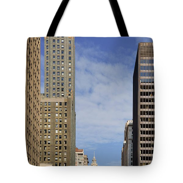 Carbide And Carbon And Wrigley Building - Two Chicago Classics Tote Bag by Christine Till