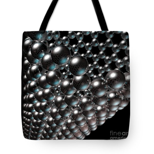 Tote Bag featuring the digital art Carbon Nanotube 8 by Russell Kightley