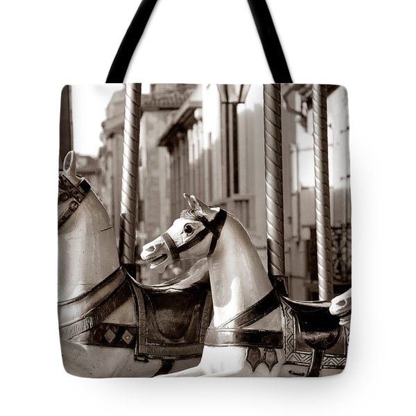 Carcassone Ride Tote Bag by Robert Lacy