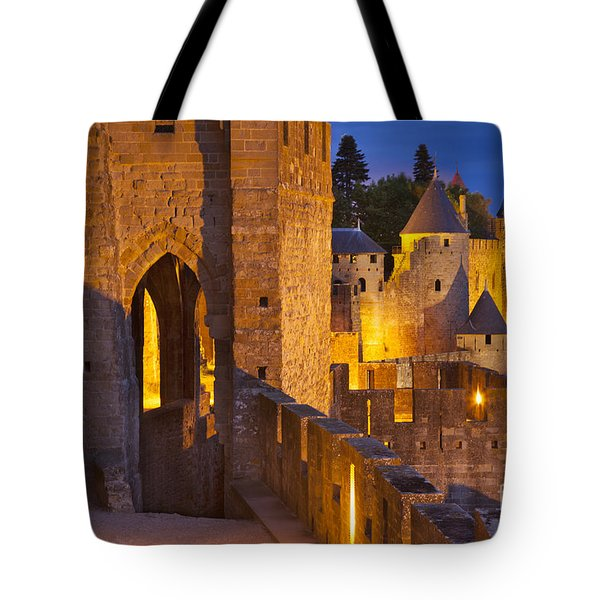 Carcassonne Ramparts Tote Bag by Brian Jannsen