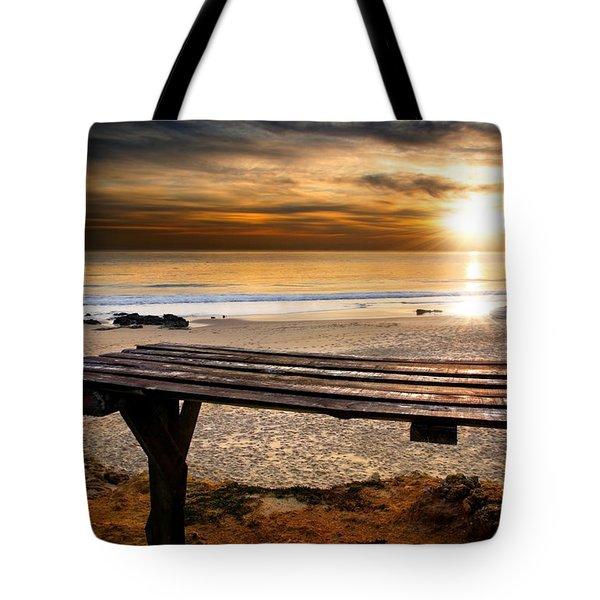 Carcavelos Beach Tote Bag by Carlos Caetano