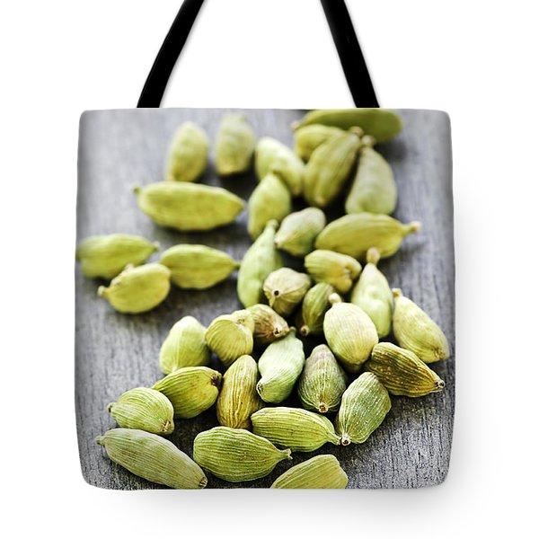 Cardamom Seed Pods Tote Bag by Elena Elisseeva